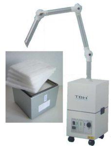 Le TBH BF9 Set D optimal pour aspiration de fumée chirurgicale en combinaison avec des laser chirurgicale et épilation