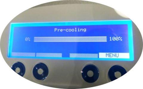 Affichage du Cryo 6 dans la phase de démarrage