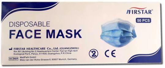 Masque chirurgicale, trois plis, jetable